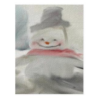 Chalk Snowman Postcards