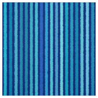 Chalk Stripes - Cobalt and Sky Blue Fabric
