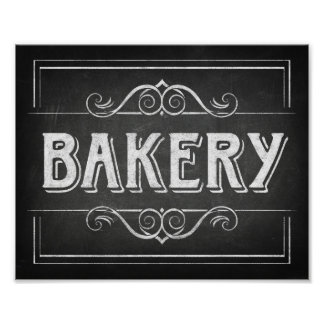 Chalk Style BAKERY Sign Print