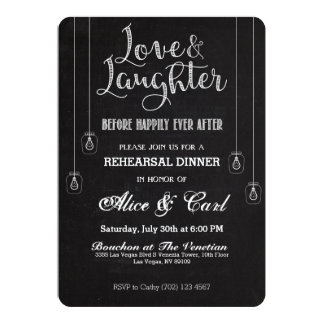 Chalk Style Rehearsal Dinner Invitation 02
