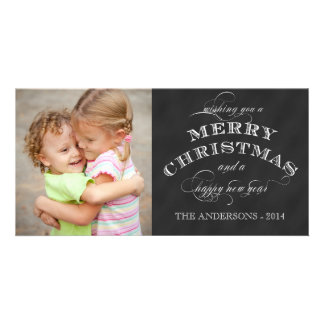 CHALKBOARD 2014 HOLIDAY PHOTO CARD