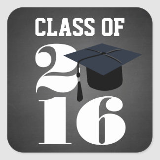 Chalkboard 2016 Graduation Sticker