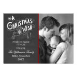 Chalkboard A Christmas Wish Holiday Photo Card