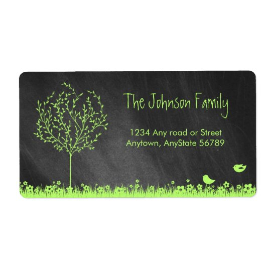 Chalkboard Address Label