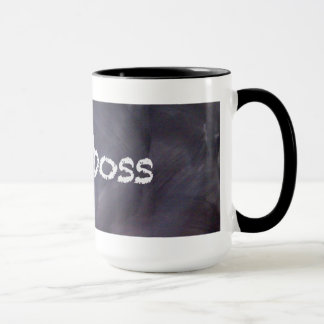 Chalkboard and Chalk Boss Coffee Mug