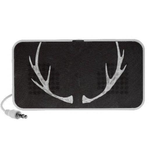 Chalkboard Art - Antlers for the Holidays Portable Speaker