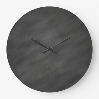 Chalkboard Background Gray Black Chalk Board Blank Large Clock