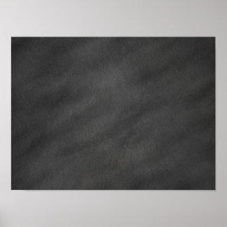 Chalkboard Background Gray Black Chalk Board Blank Poster