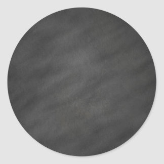 Chalkboard Background Gray Black Chalk Board Blank Round Sticker