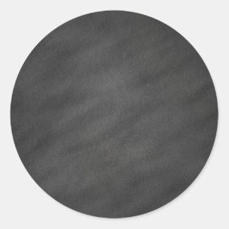 Chalkboard Background Gray Black Chalk Board Blank Round Sticker