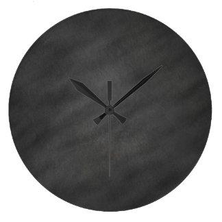 Chalkboard Background Gray Black Chalk Board Blank Wall Clock