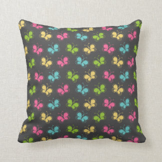 Chalkboard Background with Butterflies Cushion