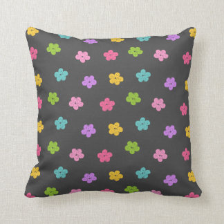 Chalkboard Background with Flowers Cushion
