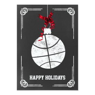 chalkboard basketball player Christmas Cards