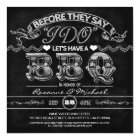 chalkboard BBQ stylish modern rehearsal dinner Card