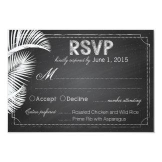 Chalkboard Beach Destination Wedding RSVP Card 9 Cm X 13 Cm Invitation Card