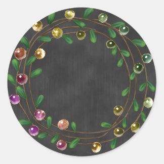 Chalkboard Berry Wreath Sticker