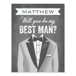 Chalkboard Best Man | Groomsman Card