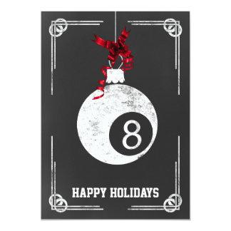 chalkboard billiard player Christmas Cards