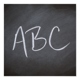 Chalkboard Blackboard Background ABC Retro Style Card