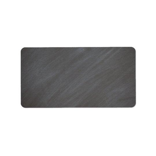 Chalkboard Blackboard Background Retro Style Black Address Label