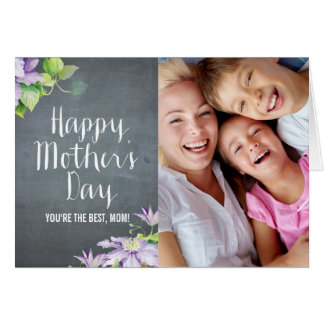 Chalkboard BloomMothers Day Photo Card