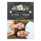 Chalkboard Blooms Save The Date Cards