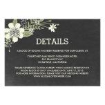 Chalkboard Blooms Wedding Enclosure Cards Invite