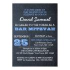 Chalkboard Blue Bar Mitzvah Invitation