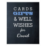 Chalkboard Blue Gift Table Sign