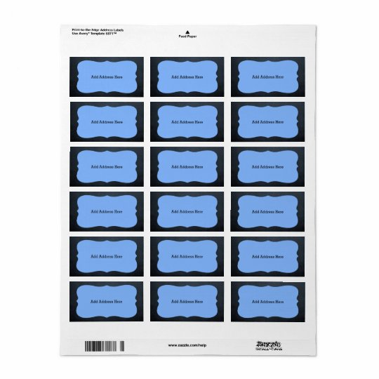 Chalkboard Blue Medallion Address Labels