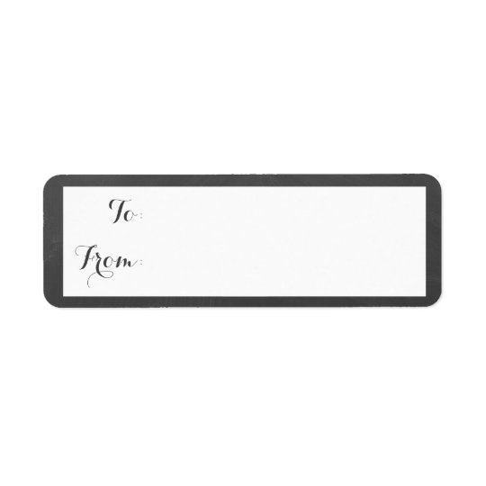 Chalkboard Border Gift Tag Return Address Label