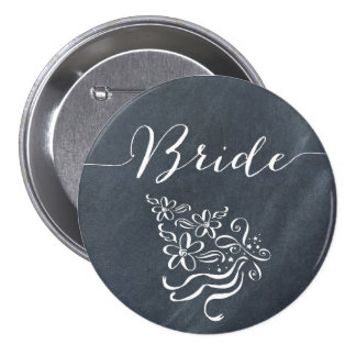 Chalkboard Bride Button