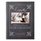 Chalkboard Bride Wedding Planner Notebook (rose)