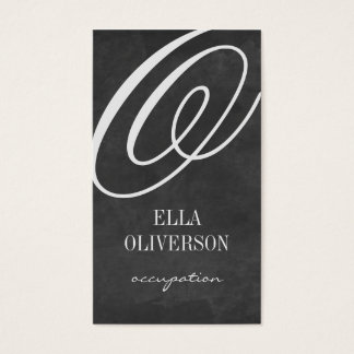 Chalkboard business card template Monogram