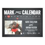 Chalkboard Calendar Photo Save The Date Cards Custom Invite