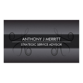 Chalkboard Calligraphy Strokes Business Card Pack Of Standard Business Cards