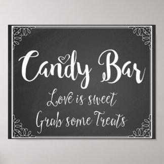 Chalkboard Candy Bar wedding or party print