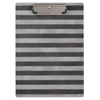 Chalkboard, Chalk Horizontal Stripes Clipboard