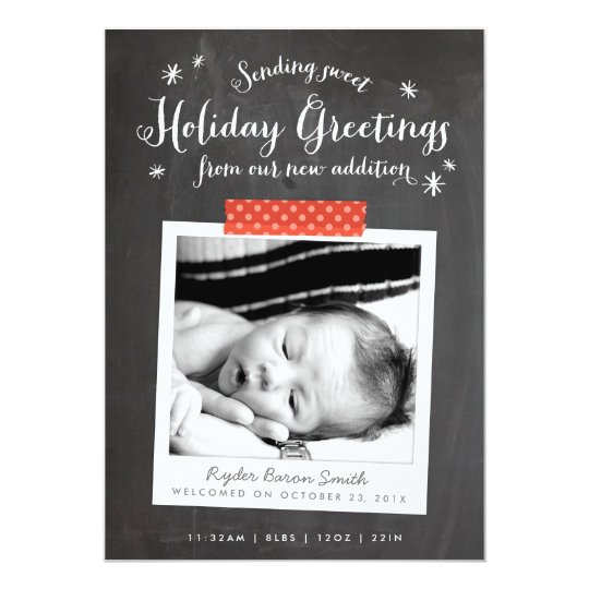 Chalkboard Christmas Baby Announcement