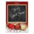 Chalkboard Christmas Card for Teacher
