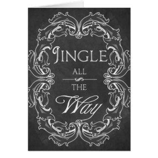 Chalkboard Christmas card Personalized Jingle all