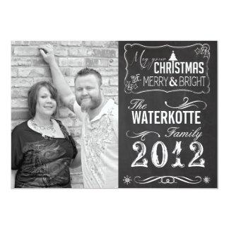 Chalkboard Christmas Cards Holiday Custom Photo 13 Cm X 18 Cm Invitation Card