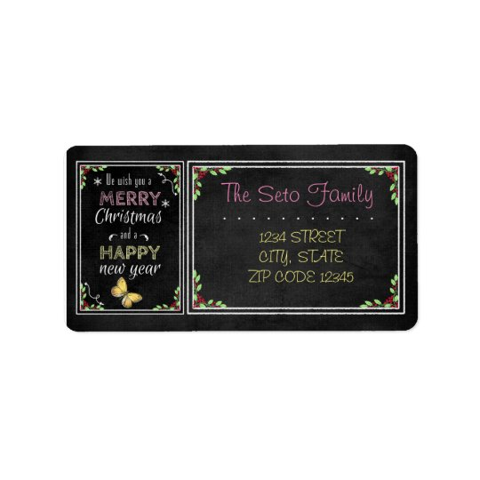 Chalkboard Christmas Collection Address Label
