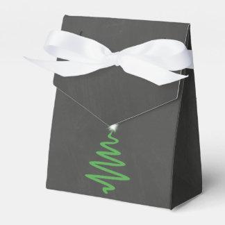 Chalkboard Christmas Favor Box Bag