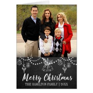 Chalkboard Christmas Folded Photo Card