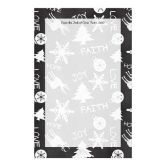 Chalkboard Christmas Fun Pattern Holiday Stationery