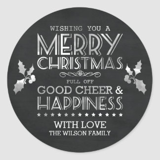 Chalkboard Christmas Gift Stickers / Labels
