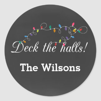 Chalkboard Christmas Lights holiday stickers