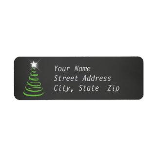 Chalkboard Christmas Return Address Label